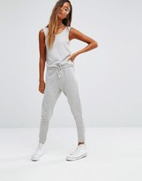 Pull&Bear Sleeveless Waist Sweat Jumpsuit