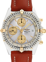 Breitling Vintage Chronomat Stainless Steel, 18K Yellow Gold & Leather Watch, 40mm