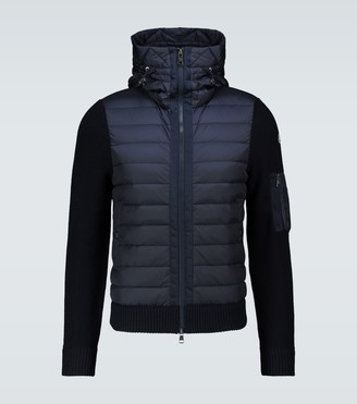 Moncler Tricot panelled jacket