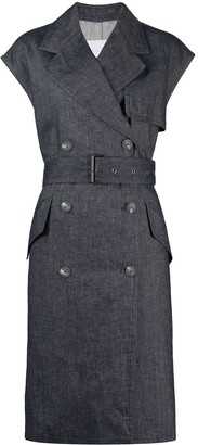 Fabiana Filippi Double-Breasted Sleeveless Coat