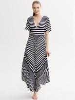 Banana Republic Diagonal Stripe Patio Dress