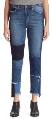 Joe's Jeans Debbie High-Rise Patchwork Step Hem Jeans