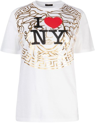 Versace I Love New York Print T-Shirt