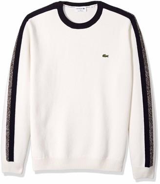 Lacoste Men's Long Sleeve Made in France Wool Sweater