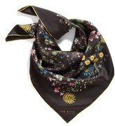Ted Baker Women's Unity Floral Small Square Silk Scarf
