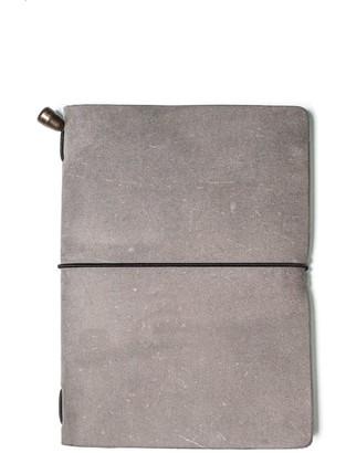 Mr Fox Handmade Passport-Size Grey Leather Traveler's Notebook
