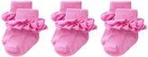 Jefferies Socks Misty Ruffle Turn Cuff 3 Pack Girls Shoes