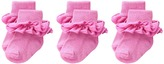 Jefferies Socks Misty Ruffle Turn Cuff 3 Pack (Infant/Toddler/Little Kid/Big Kid)