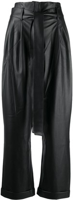 Each X Other vegan leather high waist trousers