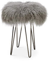Le-Coterie Curly Hairpin Counter Stool - Pewter/Gray