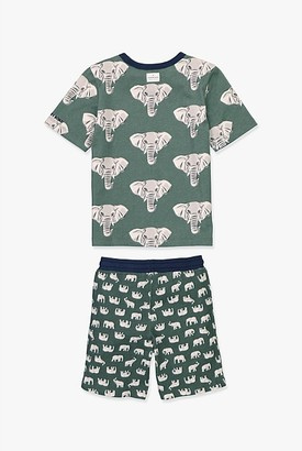 Country Road Organically Grown Cotton Elephant Pyjama Set