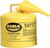 Eagle Mfg 258-UI-50-FSY 5Gal.Metal Yellow Type Isafety Can W-F-5 Funnel