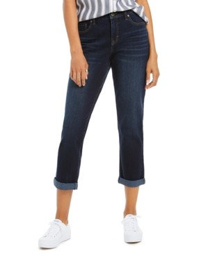 Style&Co. Style & Co Curvy-Fit Cuffed Girlfriend Jeans, Created for Macy's