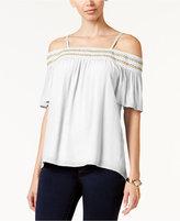 Thalia Sodi Crochet-Trim Off-The-Shoulder Top, Only at Macy's