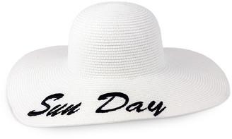 Just Jamie Sun Day Floppy Straw Hat