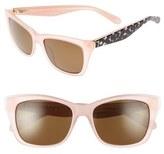 Kate Spade Women's Jenae 53Mm Polarized Sunglasses - Black/ Cream/ Transparent
