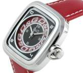 Dolce & Gabbana Women's Quartz Watch with Multicolour Dial Analogue Display and Red Leather Strap DW0184
