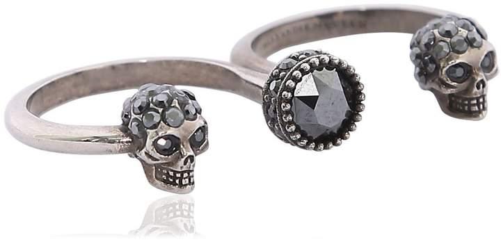 Alexander McQueen Skull Double Finger Ring