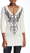 Affliction Silver Heart V-Neck Sweater