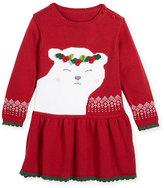 Zubels Polar Bear Knit Sweater Dress, Size 2T-7