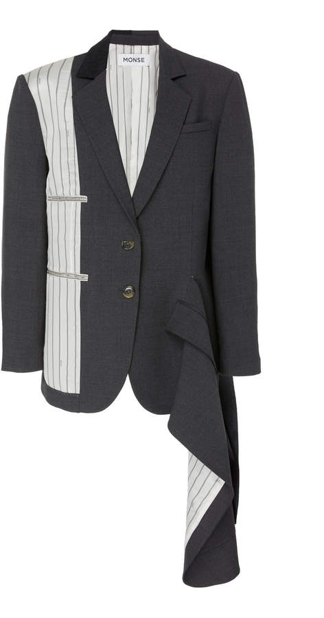 Monse Inside Out Exposed Tailoring Wool-Blend Blazer
