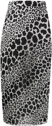 Alessandra Rich Animal Print Skirt