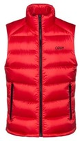 HUGO BOSS - Water Repellent Down Gilet With Reverse Logo Print - Open Pink