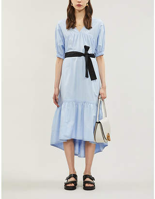 3.1 Phillip Lim Tiered gathered cotton-poplin midi dress