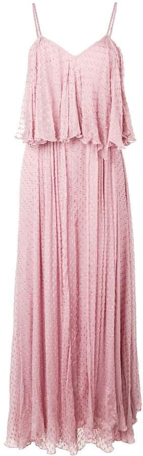 Mes Demoiselles textured ruffle maxi dress