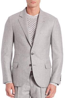 Brunello Cucinelli Wales Wool Plaid Sportcoat