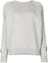 IRO lace-up sleeve sweatshirt