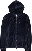 Derek Rose Nico Dark Blue Velour Sweatshirt