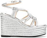 No.21 platform sandals - women - Leather/Straw/rubber - 36.5