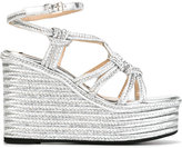 No.21 platform sandals - women - Leather/Straw/rubber - 38.5