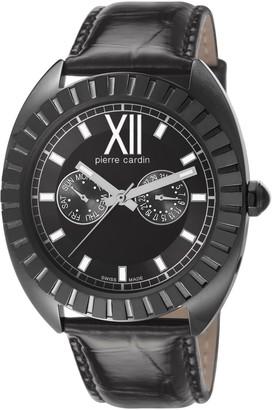 Pierre Cardin Levant De Seduction Women's Quartz Watch with Black Dial Analogue Display and Black Leather Strap PC106042S03