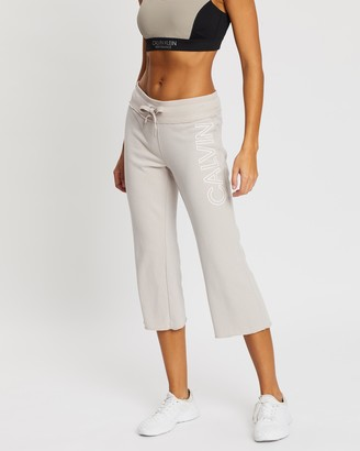 Calvin Klein Calvin Logo Kick Flare Crop Pants