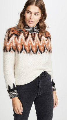 Coach 1941 Fair Isle Turtleneck Sweater