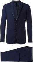 Tagliatore contrast trim dinner suit - men - Cupro/Virgin Wool - 48