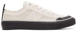 Diesel White S-Astico Low Logo Sneakers