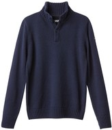 Schott High Neck Chunky Knit Jumper