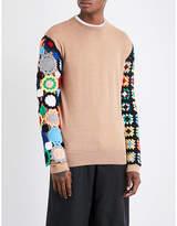 Jw Anderson Crochet-sleeved Wool Jumper