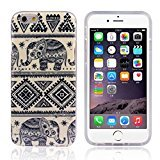Lookatool for iPhone 6 6G 4.7inch Blue Elephant Rubber Soft TPU Case Gel Cover