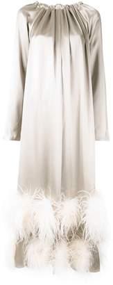 Alison Brett Trapeze feather-embellished dress