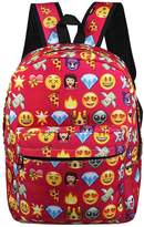 Posher TM FL6 Girls Boys School Backpack Cute Emoji Shoulder Bags