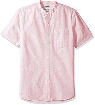 Goodthreads Men's Standard-Fit Short-Sleeve Band-Collar Oxford Shirt