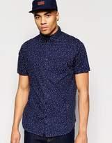 Brave Soul Dot Print Short Sleeve Shirt