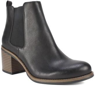 White Mountain Footwear Destiny Block Heel Chelsea Bootie