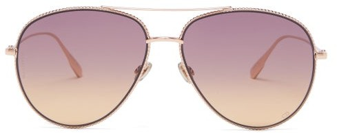 Thumbnail for your product : Christian Dior Diorsociety3 Aviator Metal Sunglasses - Gold