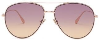 Christian Dior Diorsociety3 Aviator Metal Sunglasses - Gold