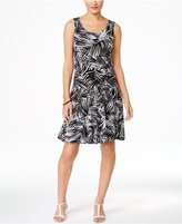 Style&Co. Style & Co. Petite Printed Sleeveless A-Line Dress, Only at Macy's